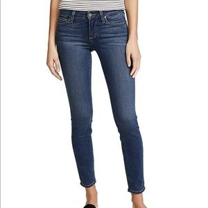 Paige jeans med rise ankle skinny